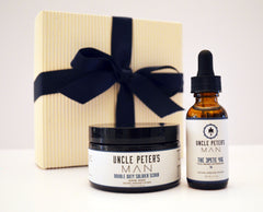 Holiday gift pack face skincare for men.