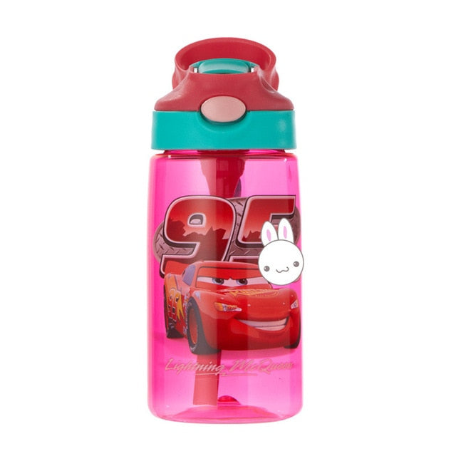 Kids Water Cup Creative Cartoon With Straws Leakproof Water Bottles 480ML