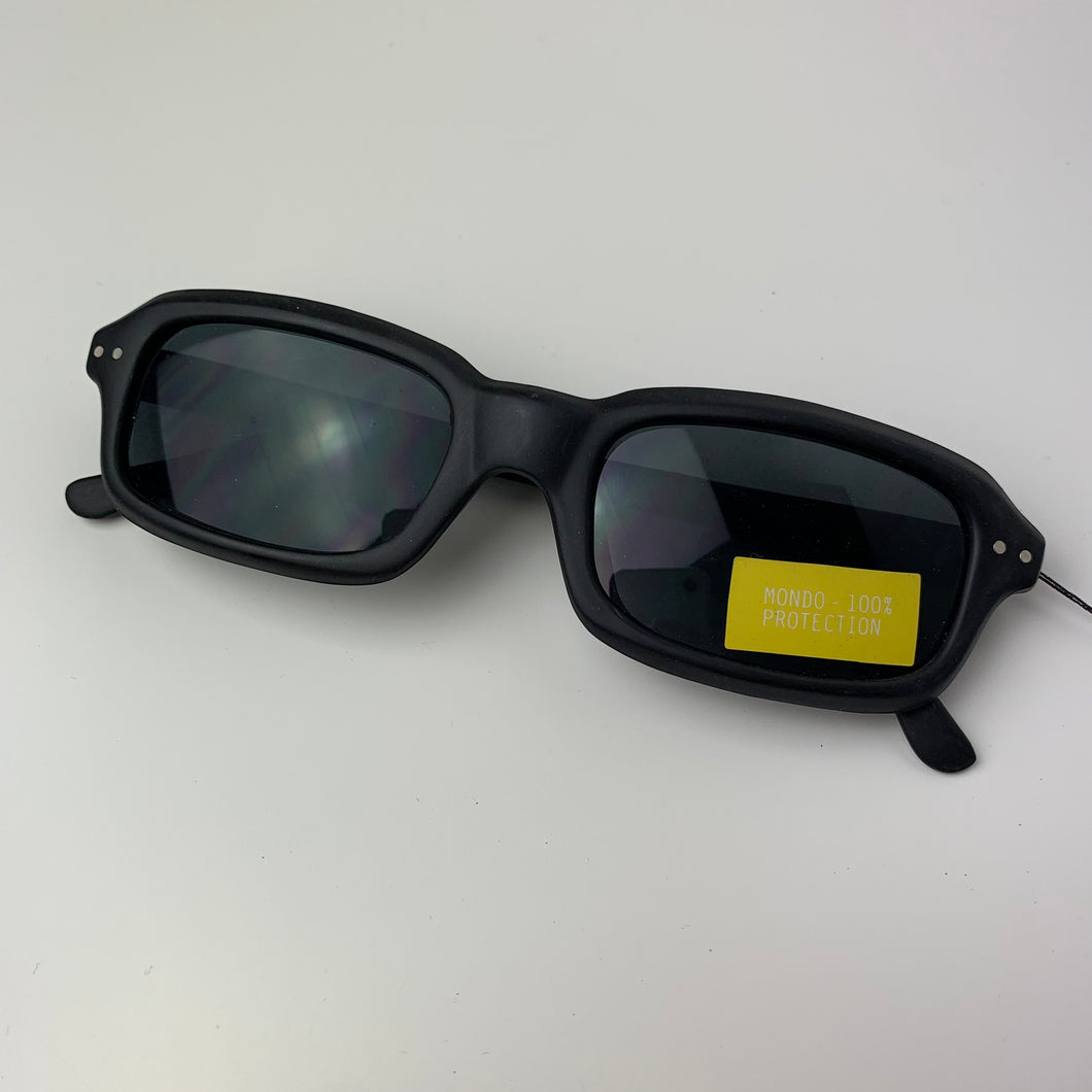 Dusty Black Rectangle 90s Sunglasses