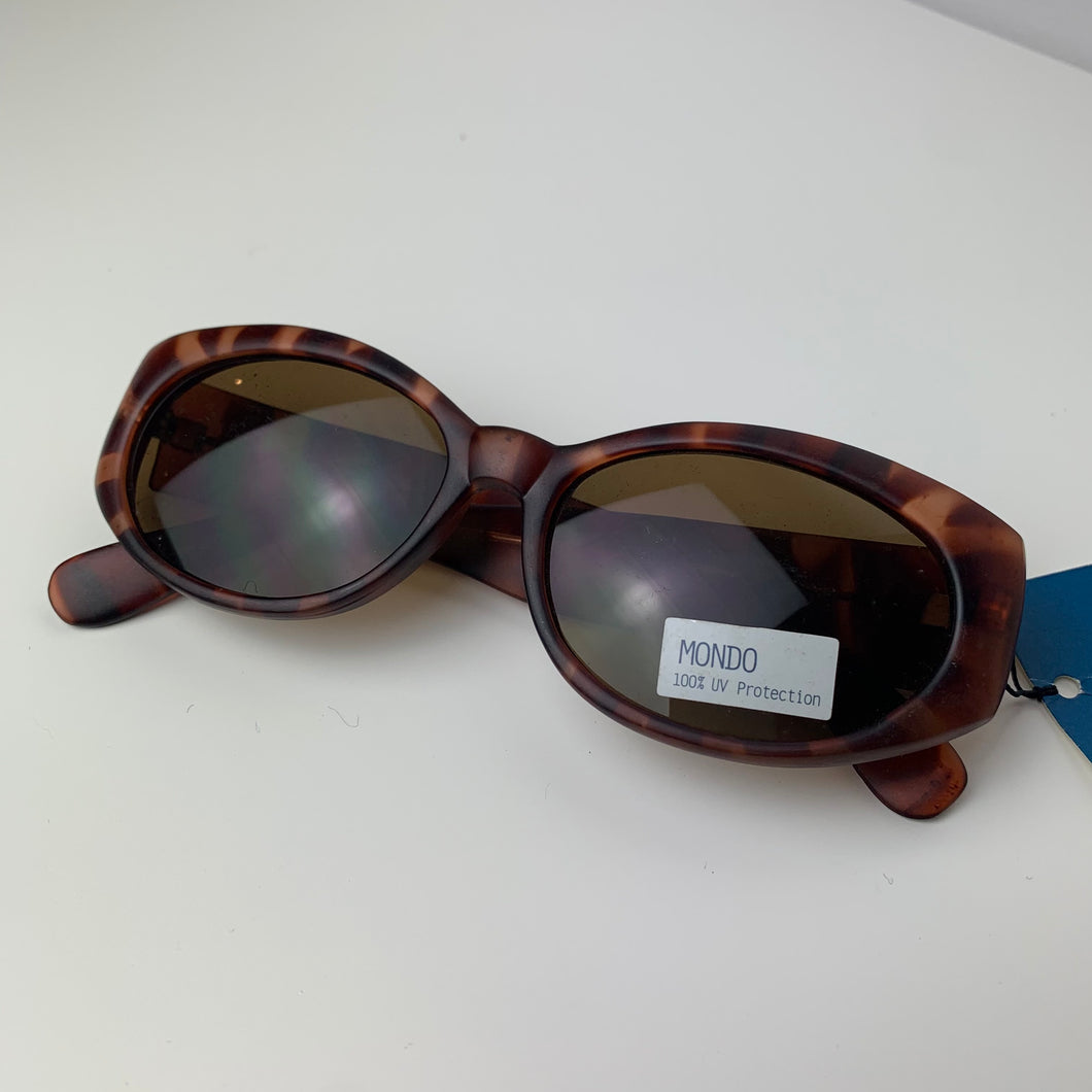 Oversised Matte Brown 90s Sunglasses