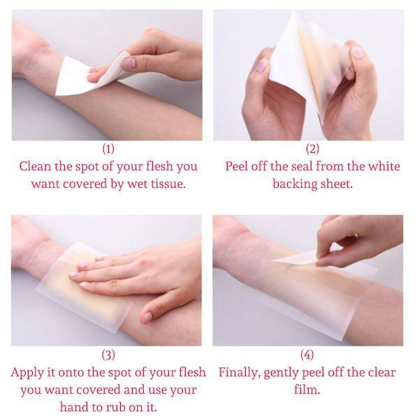 how to hide scars on legs with concealing tape