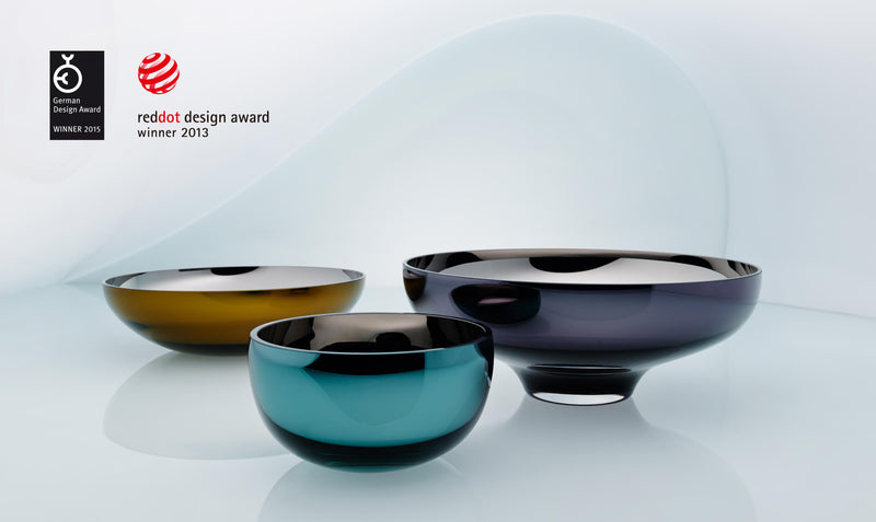 red dot design award glass bowls. an&angel red dot winner bowl collection