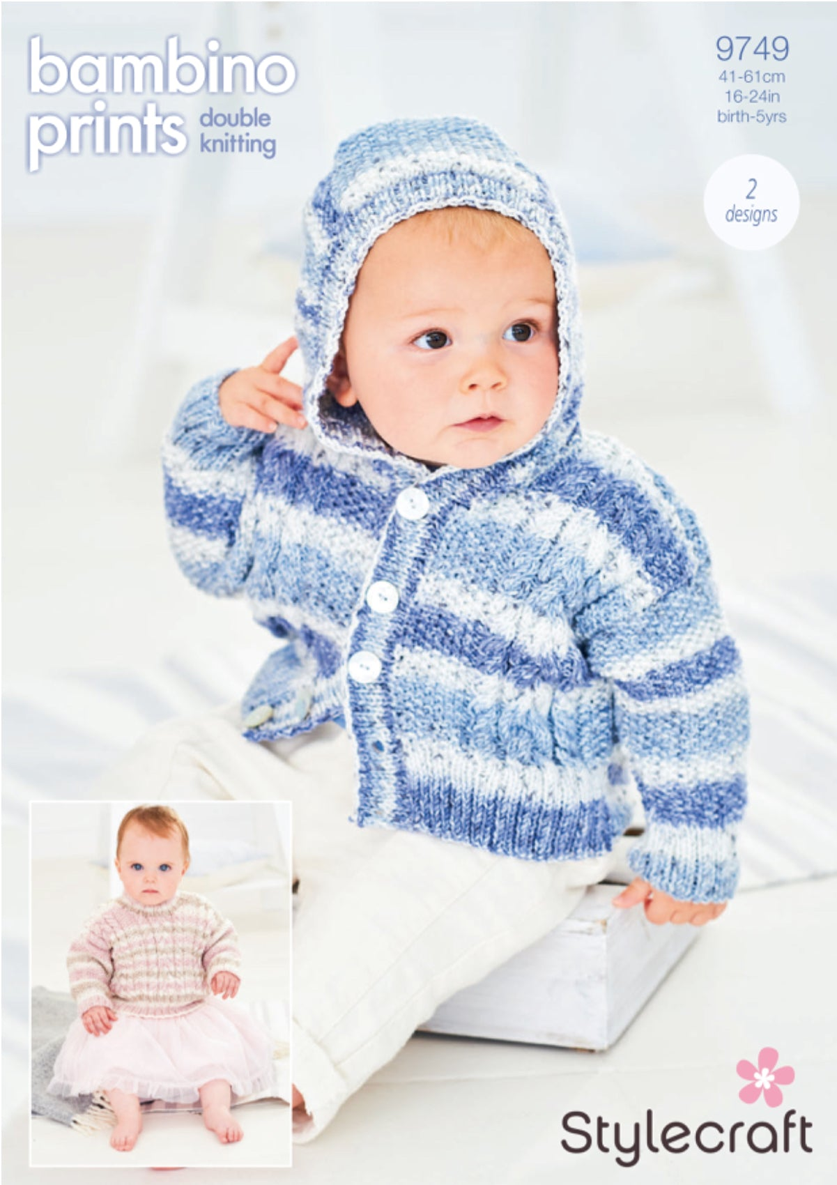 Stylecraft 9749 Jumper and Hoodie in Bambino Prints DK