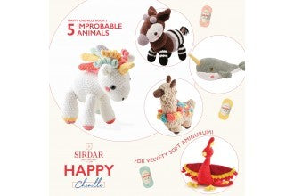 Sirdar Happy Chenille Book 3 - Improbable Animals