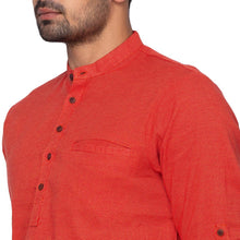 Load image into Gallery viewer, Cotton Red Printed Short Length Kurta (BAALI-247)