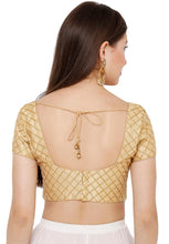 Load image into Gallery viewer, Gold Silk Blend Readymade Blouse (SSB2725-GOLD)