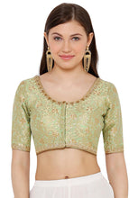 Load image into Gallery viewer, Pista Green Silk Blend Readymade Blouse (SSB2759-PIGR)