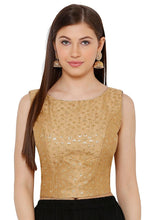 Load image into Gallery viewer, Gold Silk Blend Readymade Blouse (SSB2775-GOLD)