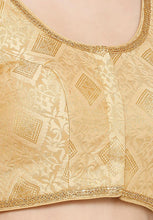Load image into Gallery viewer, Gold Brocade Readymade Blouse (SSB2884-GOLD)