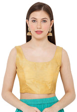Load image into Gallery viewer, Gold Dupion Silk Readymade Blouse (SSB2928-GOLD)