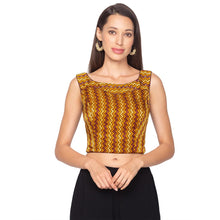 Load image into Gallery viewer, Mustard Yellow Modal Silk Readymade Blouse (SSB2941-MSTD)