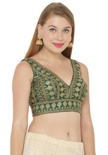 Load image into Gallery viewer, Green Art Silk Readymade Blouse (SSB2959-GREN)