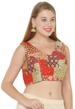 Load image into Gallery viewer, Multicolor Jacquard Readymade Blouse (SSB2967-SKCR)
