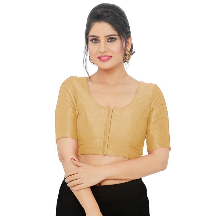 Gold Art Silk Readymade Blouse (SSB3082-GOLD)
