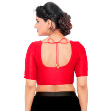 Load image into Gallery viewer, Red Art Silk Readymade Blouse (SSB3084-RED)
