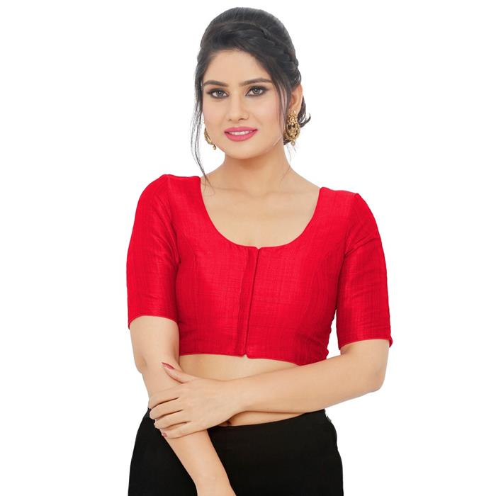 Red Art Silk Readymade Blouse (SSB3084-RED)