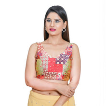 Load image into Gallery viewer, Pista Green Jacquard Readymade Blouse (SSB3106-PIGR)