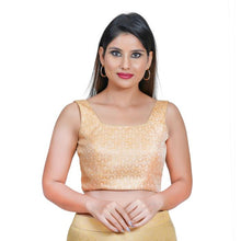 Load image into Gallery viewer, Peach Jacquard Readymade Blouse (SSB3120-PECH)