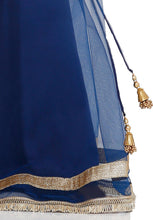 Load image into Gallery viewer, Navy Blue Net Readymade Lehenga Choli (SSKLC0010)