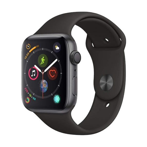Apple Watch Series 5 GPS, 40mm Space Grey Aluminium Case with Black Sport Band UE