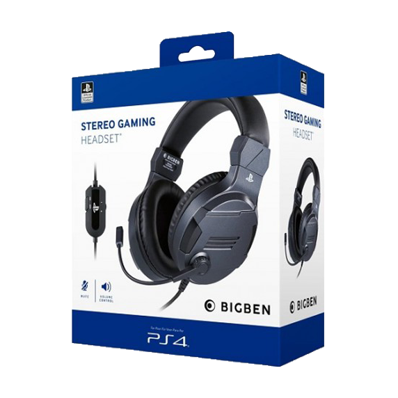 PS4 BigBen Stereo Gaming Headset V3 Wired - Titanium