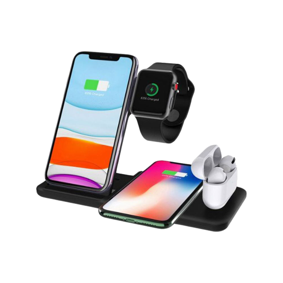 4 in 1 Dual Wireless Charging Stand