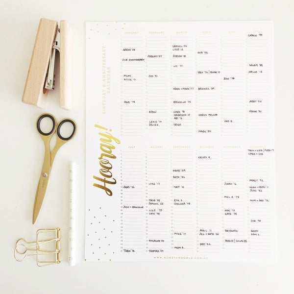 Birthday Calendar {New Product}
