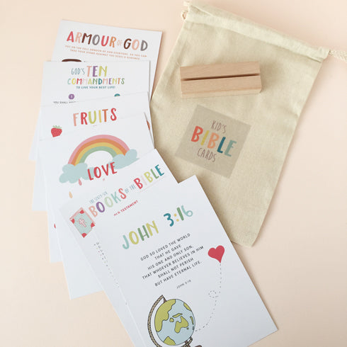 Modern Memory Verse Cards for Kids
