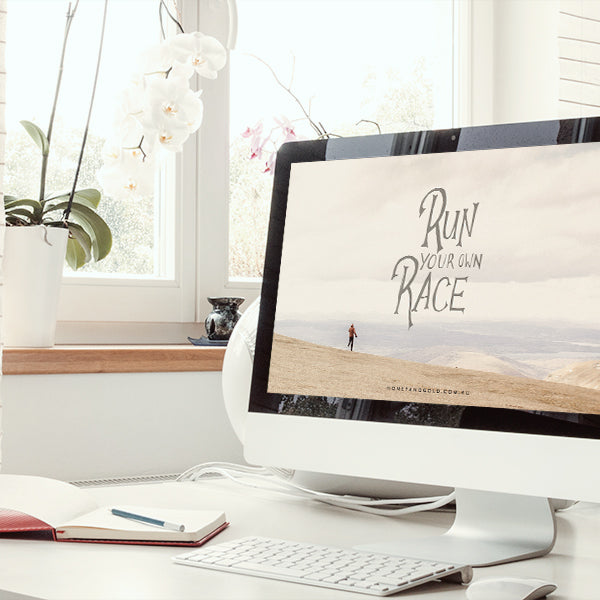 RUN YOUR OWN RACE {Monthly Design Freebie}