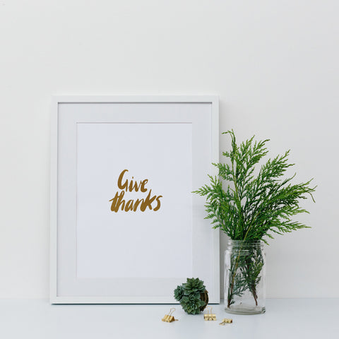 'Trust in the Lord' Gold Foil Wall Print