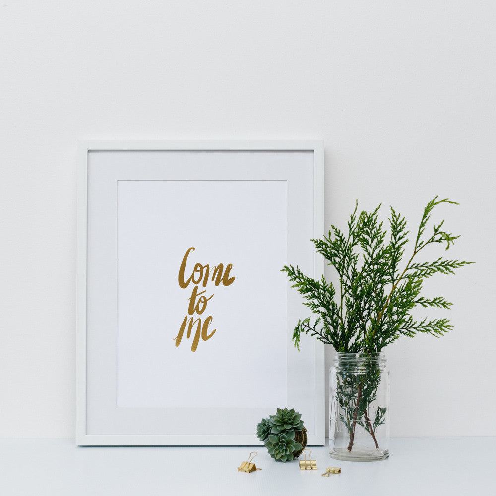 Come to Me ~ Gold Foil Wall Print