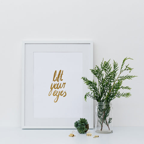 'All things are Possible' Gold Foil Wall Print