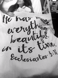 Everything Beautiful in its time ~ Muslin Wrap
