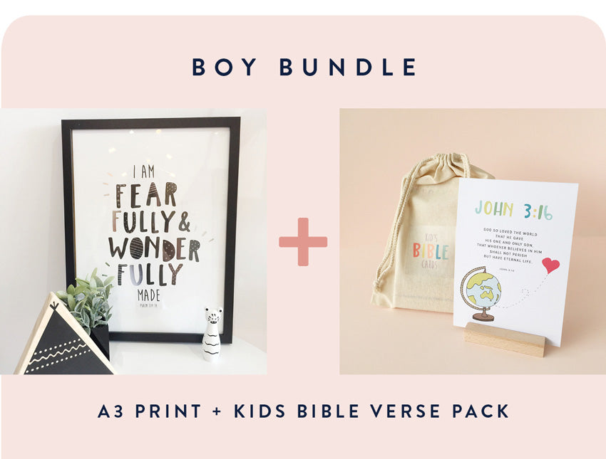 Boy Print + Verse Pack BUNDLE