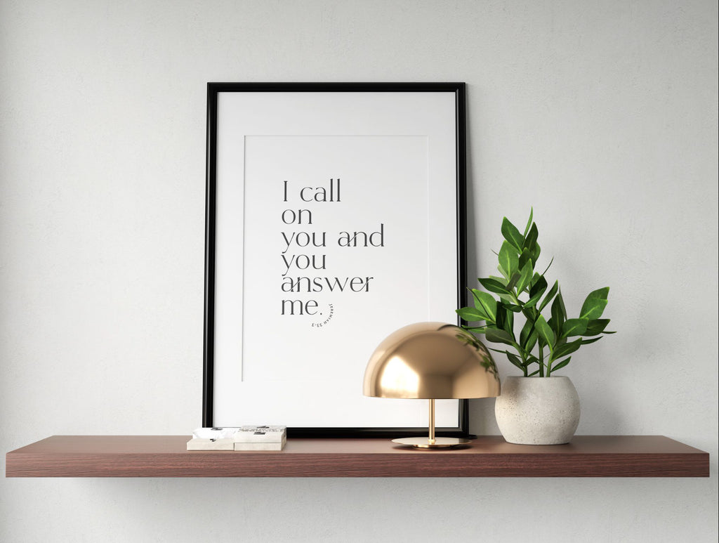 I Call on You ~ Wall Print