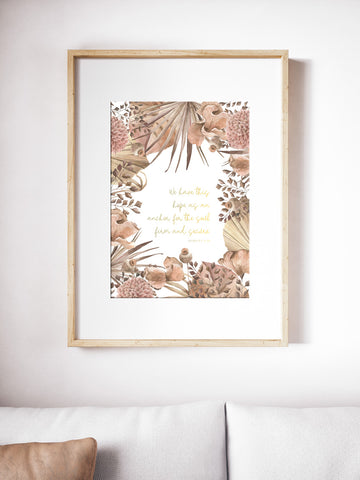 Give Thanks ~ Gold Foil Wall Print