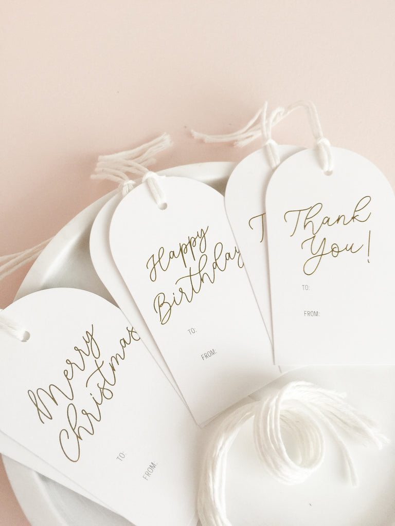 Luxe Foil Gift Tags - 6 pack