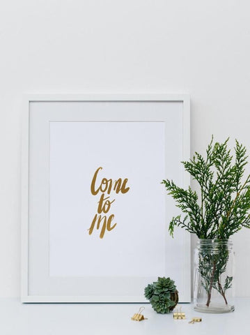 Be Still ~ Gold Foil Wall Print