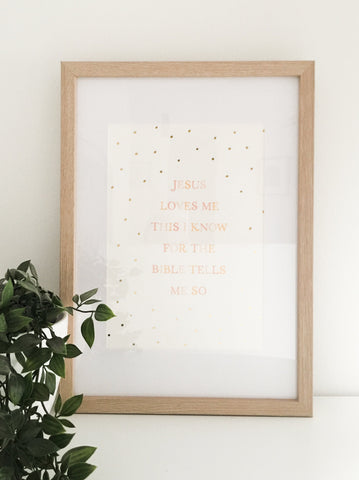 The Blessing Personalised  ~ Wall Print