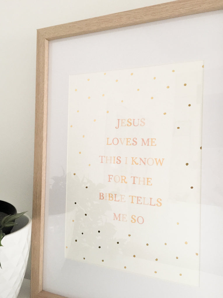 Jesus Loves Me ~ Wall Print