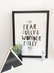 Fearfully & Wonderfully Made - Monochrome