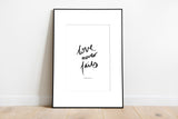 Love Never Fails ~ Wall Print