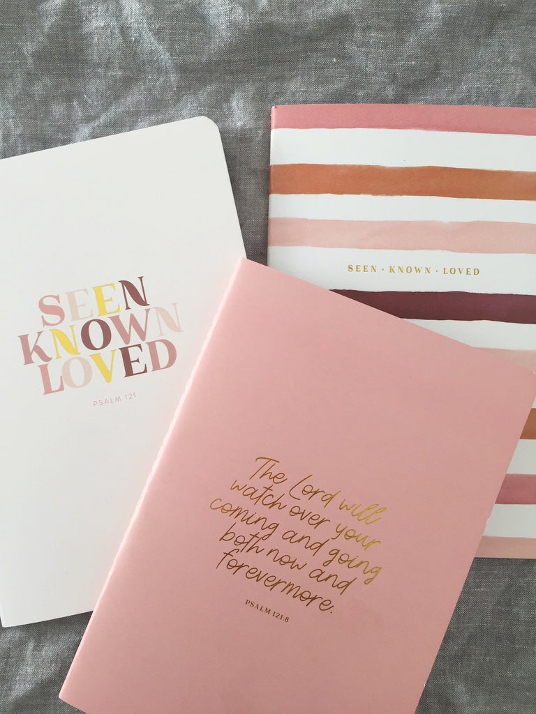 10 Minute Journal ~ Seen Known Loved ~ Pink Psalm 121