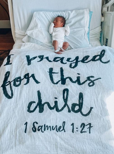 I Prayed for This Child ~ Muslin Wrap