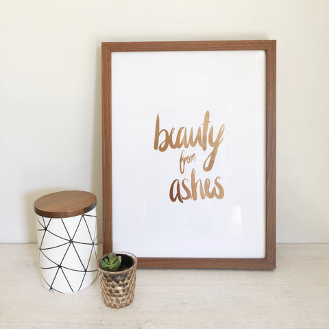 Trust in the Lord - Gold Foil Wall Print