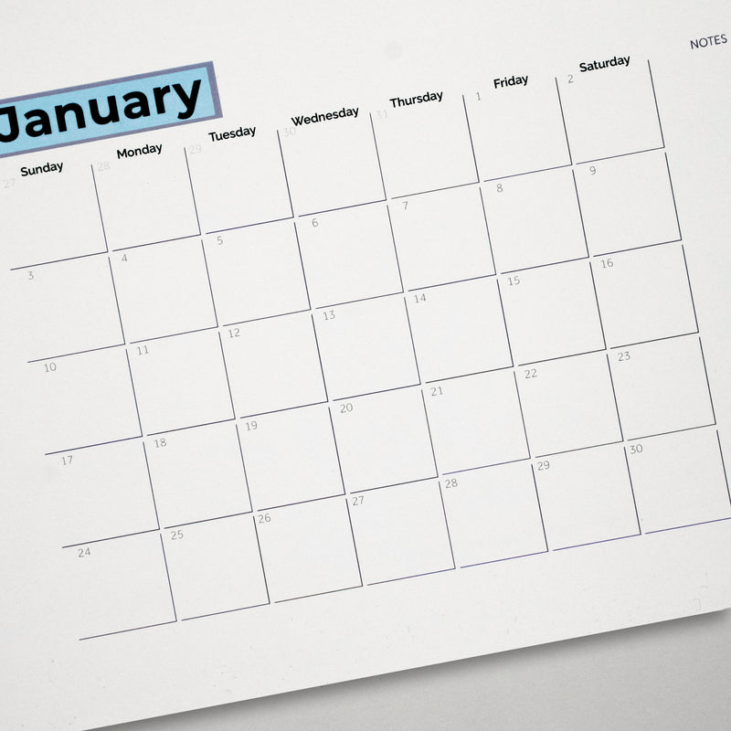 Customizable Monthly Wall Calendar