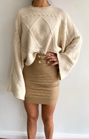 Lilianna Knit Sweater in Natural - PREORDER