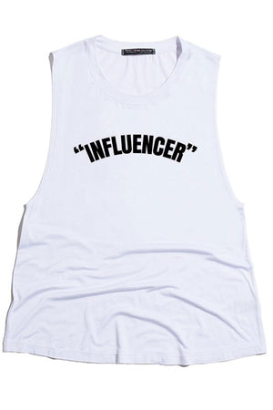 Influencer Tank in White