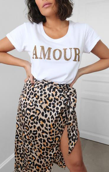 Amour Beaded Slogan Tee