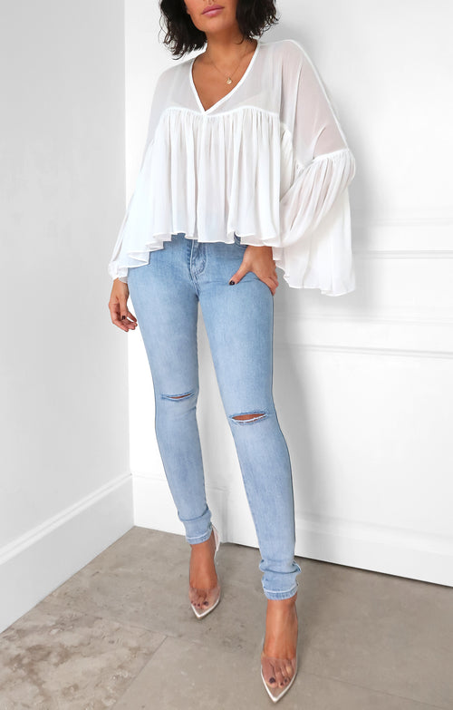 Lucia Top in Off White